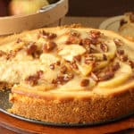 Caramel Apple Pecan Cheesecake