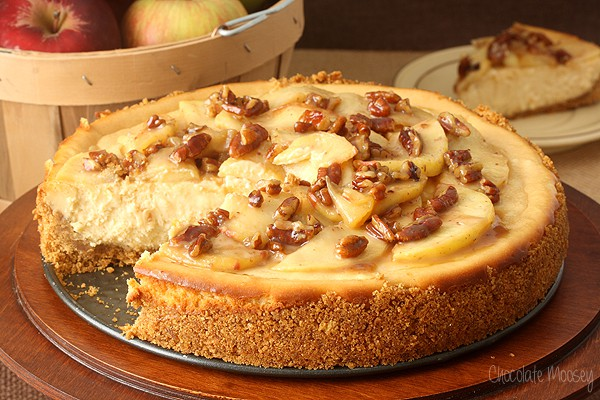 apple pecan cheesecake adapted caramel apple pecan cheesecake