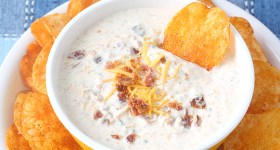 Cheesy Bacon Ranch Dip is perfect party food