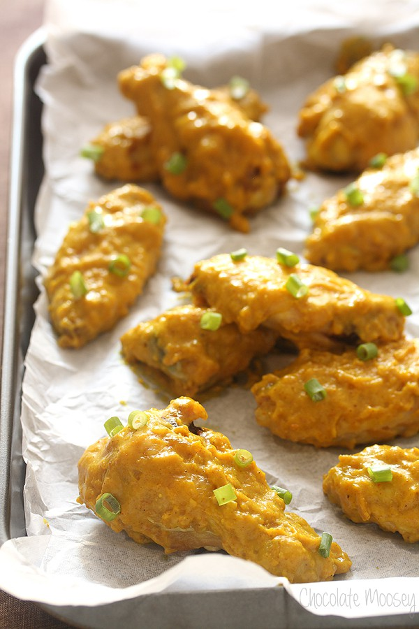 Curry Baked Chicken Wings