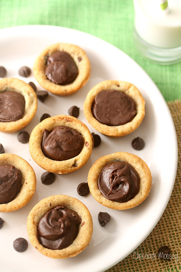Mini Chocolate Chip Cookie Cups Recipe — Dishmaps