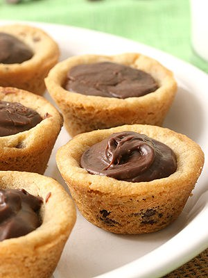 Fudge Filled Chocolate Chip Cookie Cups