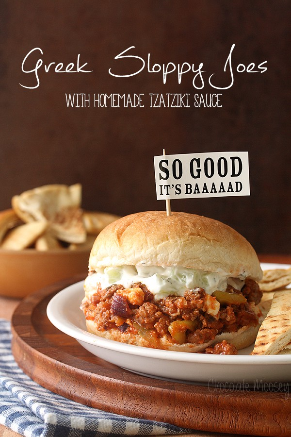 Greek Sloppy Joes made with American ground lamb