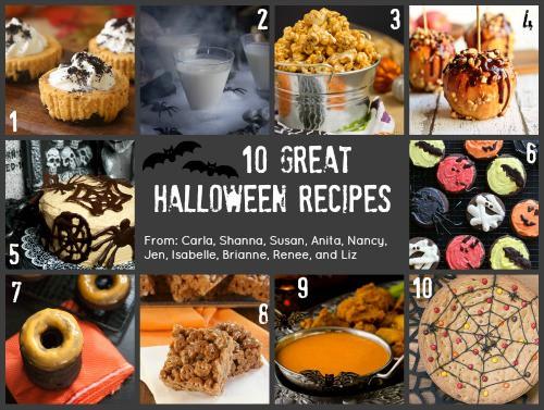 Halloween Recipe Collage
