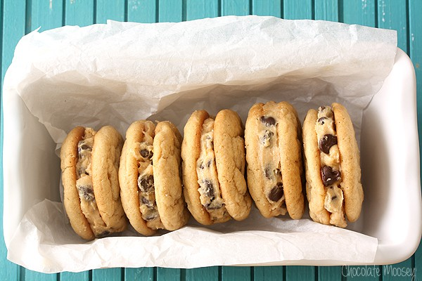 Peanut Butter Cookie Dough Sandwich Cookies are soft and chewy cookies filled with homemade peanut butter cookie dough