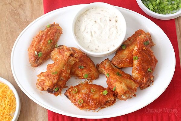 Saucy Taco Baked Chicken Wings