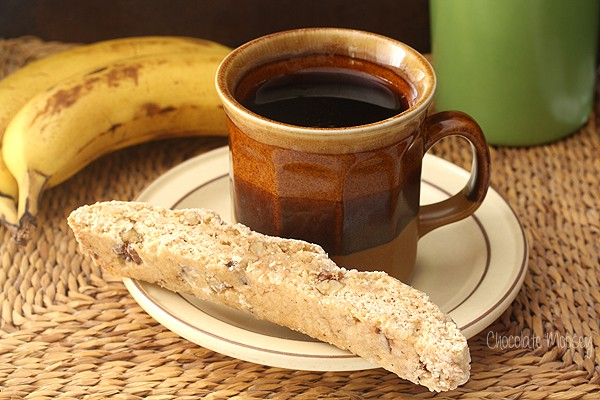Banana Walnut Biscotti to use up overripe bananas