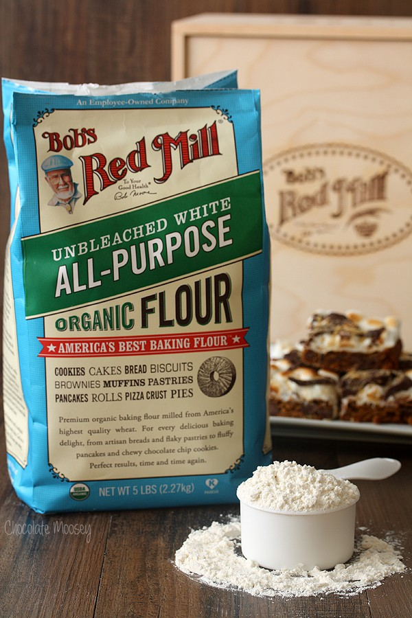 Bob's Red Mill All Purpose Flour for Gingerbread S'mores Cookie Bars