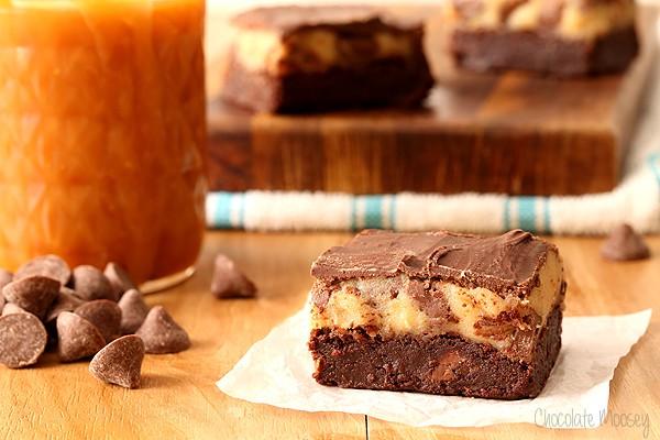 Caramel Chocolate Chip Cookie Dough Brownies