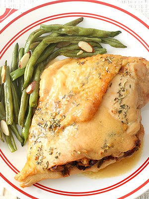 Caramelized Onion and Cranberry Stuffed Turkey Breasts