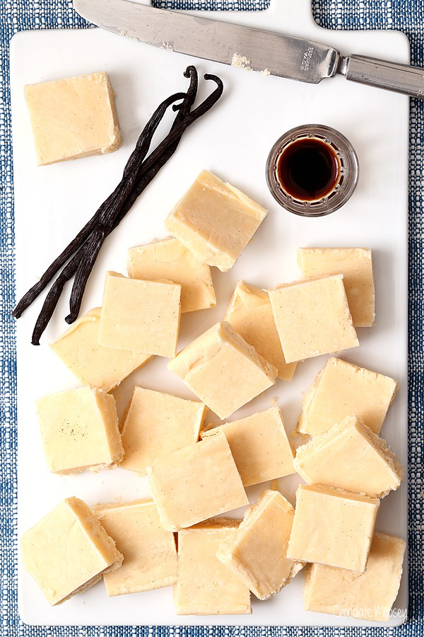 Easy vanilla fudge recipe using vanilla beans