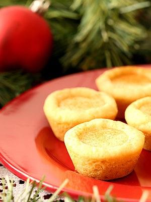 Eggnog Filled Sugar Cookie Cups from scratch