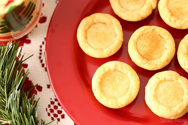 Eggnog Filled Sugar Cookie Cups from scratch