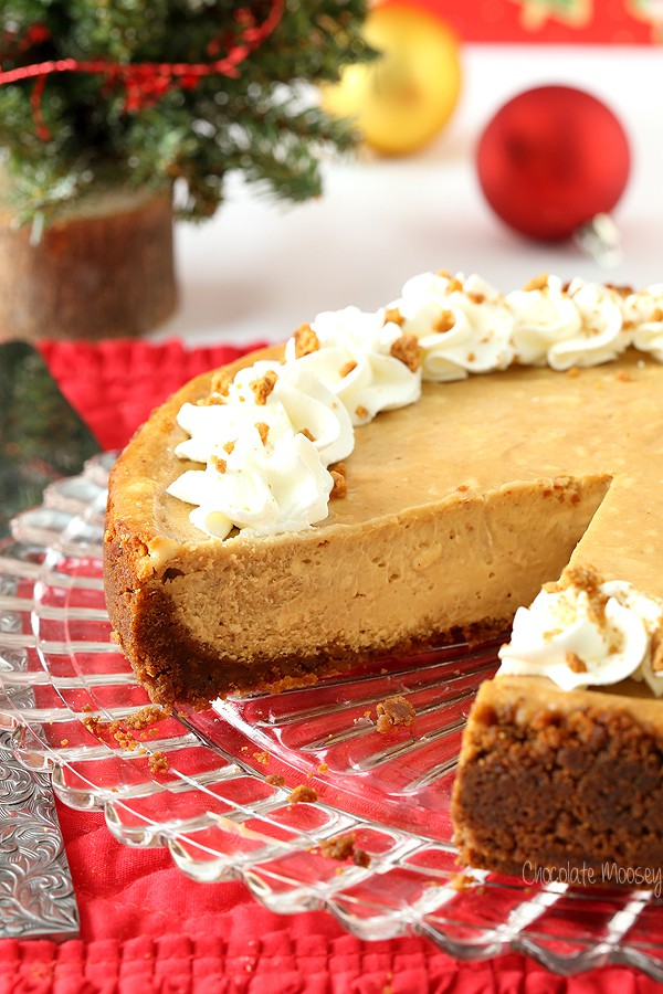 Gingerbread Cheesecake for Christmas dessert