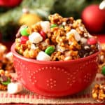 Gingerbread Popcorn Snack Mix for a festive Christmas popcorn
