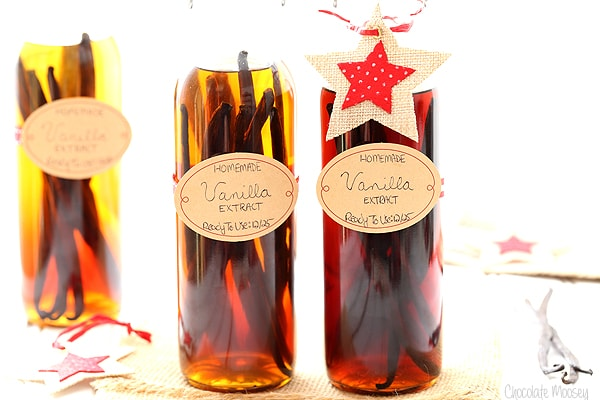 How To Make Homemade Vanilla Extract with vanilla beans, vodka, and rum