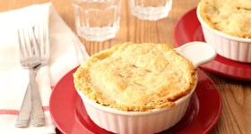 Chicken Pot Pie For Two with homemade double pie crust
