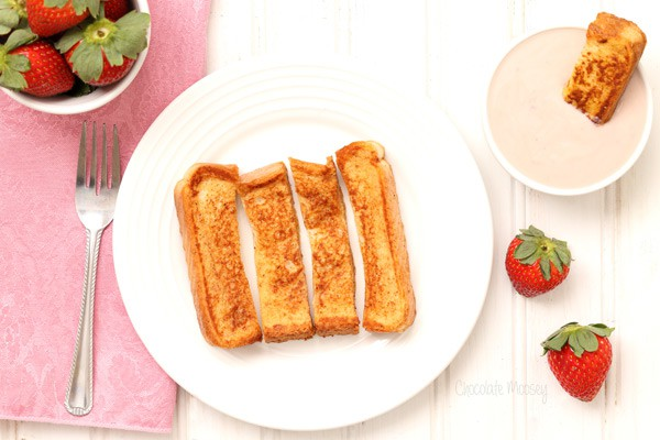 French Toast Sticks With Strawberry Yogurt Dipping Sauce for a fun, nostalgic breakfast