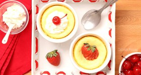 Mini Cheesecake For Two can be customized with different toppings