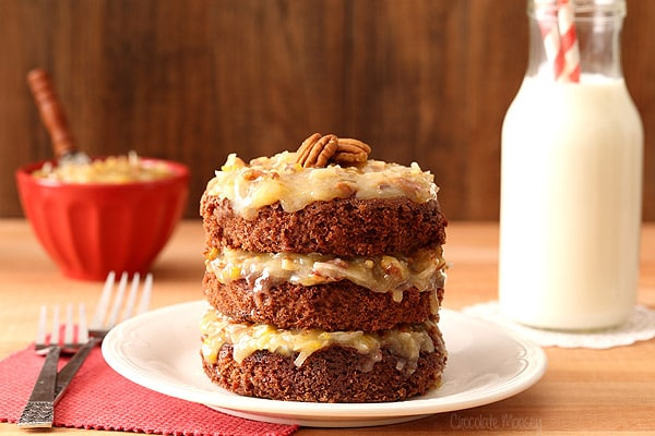 Mini German Chocolate Cake For Two