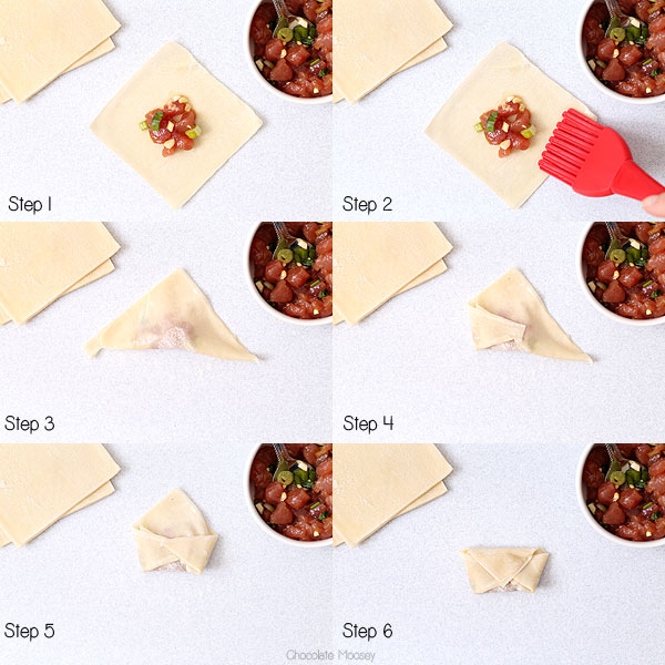 How To Assemble Wontons for Wonton Soup
