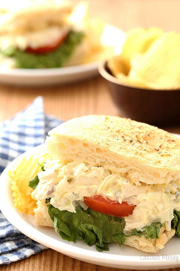 Chicken Salad Breadstick Sandwiches