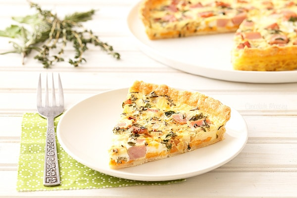 Ham and Herb Quiche for brunch