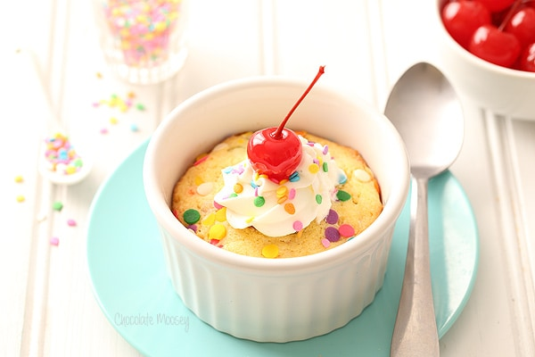 Single Serving Deep Dish Funfetti Sugar Cookie