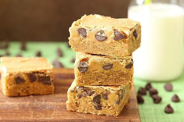 Blondies With Chocolate And Peanut Butter Cookie Centers Recipe ...