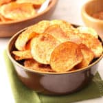 Homemade Barbecue Potato Chips - both baked and fried recipes