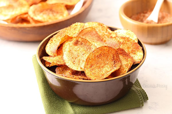 Bowl of Barbecue Chips