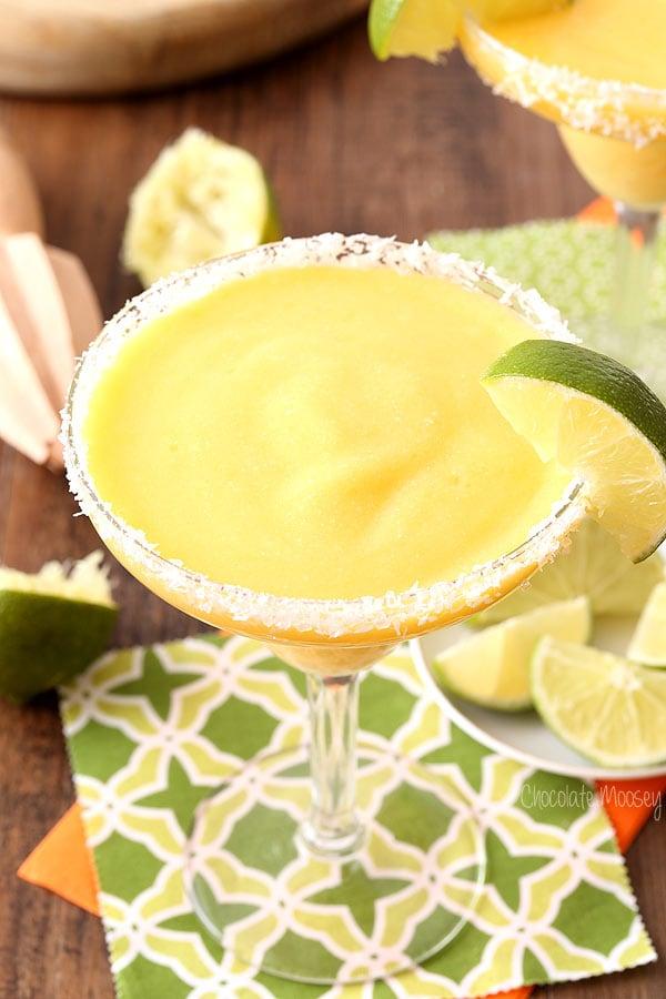 Mango Coconut Frozen Margaritas (alcohol and virgin recipes)