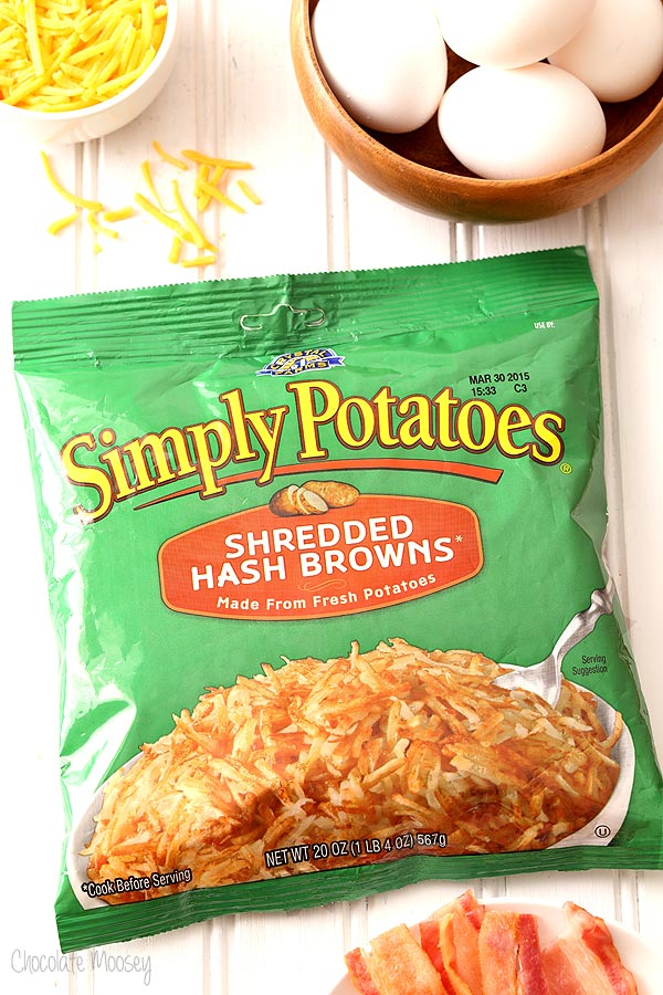 Simply Potatoes for Cheesy Hash Brown Bowls