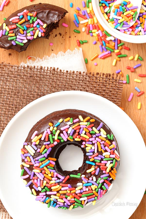 Triple Chocolate Baked Doughnuts that stay fresh for a few days