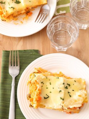 Buffalo Chicken Lasagna For Two