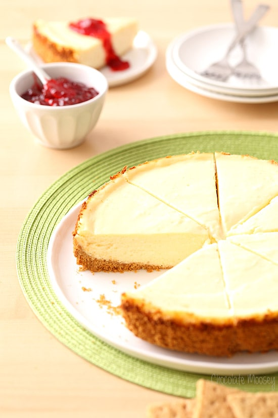 Classic Cheesecake recipe with a graham cracker crust