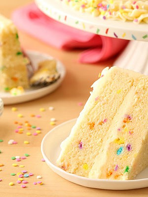 Funfetti Layer Cake with Whipped Vanilla Buttercream Frosting