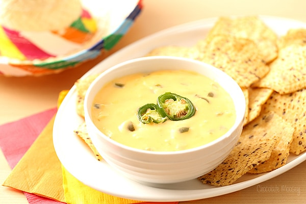 Queso in White Bowl