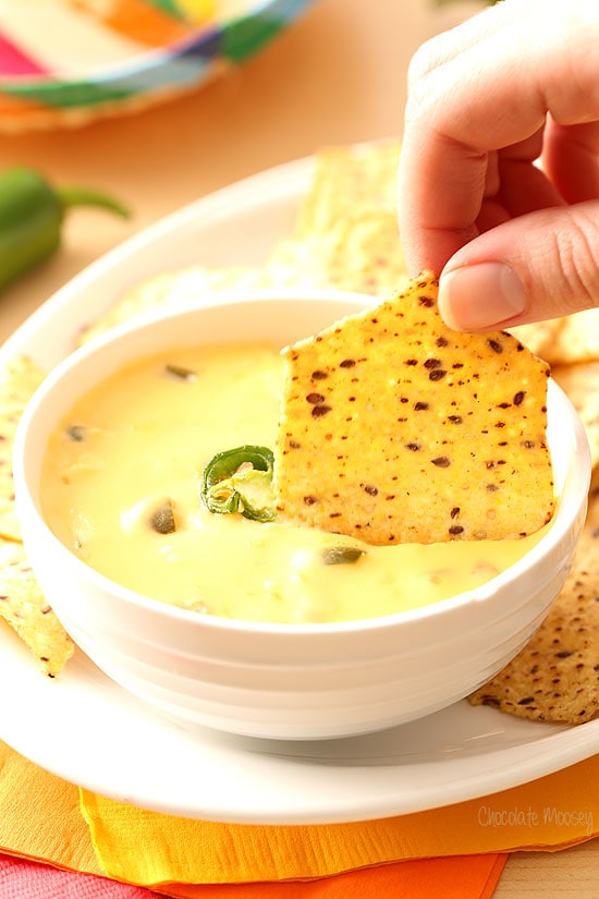 Nacho Cheese Dip and Sauce with a secret ingredient that leaves it silky smooth