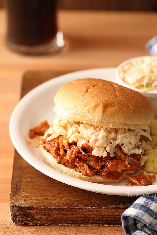 Pulled Pork For Two with homemade coleslaw