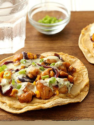 Barbecue Chicken and Corn Tostadas