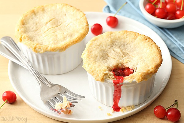Cherry Pie For Two with homemade cherry pie filling and homemade pie ...