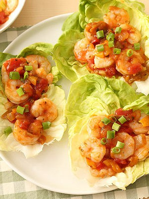 Salsa Shrimp Lettuce Wraps ready in 15 minutes