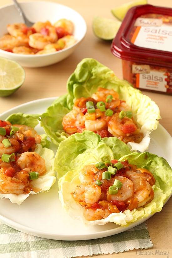 Salsa Shrimp Lettuce Wraps ready in 15 minutes