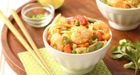 Sesame Shrimp Peanut Noodles for a cold lunch or dinner