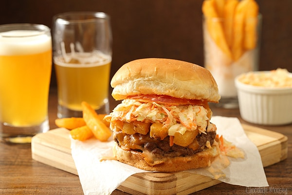 The Pittsburger (Primanti Style Burger With French Fries and Coleslaw)