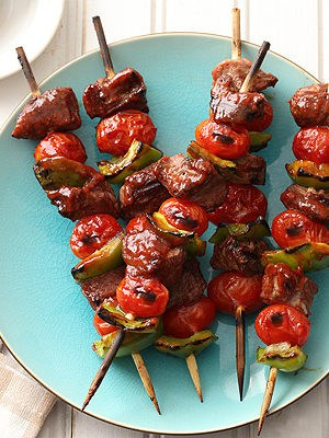Sweet and spicy Chipotle Barbecue Lamb Kabobs for an easy weeknight dinner