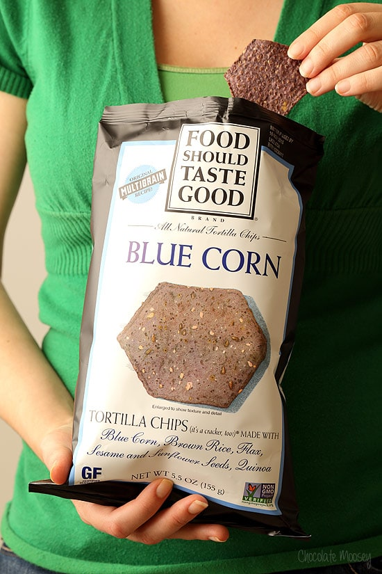 Blue Corn Tortilla Chips for taco dip