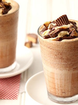 Peanut Butter Frozen Hot Chocolate