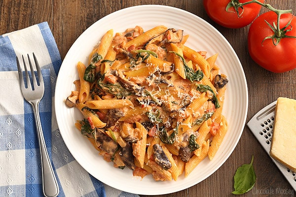 Pasta recipes mushrooms tomatoes
